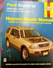HAYNES 2002-2010 FORD EXPLORER REPAIR MANUAL INC. MERC. MOUNTAINEER. 36025