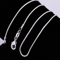 "Size 16-24"" Whoesale Lot 10/20/50/100pcs 2mm Silver Snake Chain Jewelry Necklace"