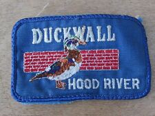 Duck Wall Hood River Oregon Embroidered Jacket Patch Sew On Badge