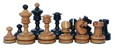 """Reproduction Vintage 1930 German Knubbel 3.5"""" Chess Set in Distressed Antique"""