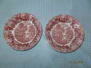 Wood & Sons Red Transfer Ware Bowls Set of 2