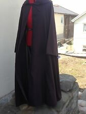 oversized dark brown hooded cloak with sleeves. more colours cosplay jedi wizard