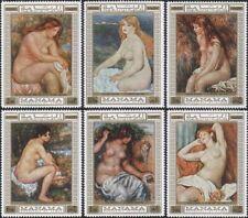 Manama 1970 Renoir/Art/Artists/Painters/Paintings/Nudes/Naked 6v set (s144u)