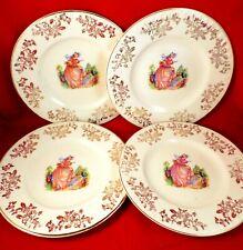 More details for crinoline lady tea plate set pinkie china vintage garden gold chintz barratts
