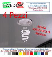 4 ADESIVI SOTTOFRECCIA ALFA ROMEO STICKERS  Mito Giulietta 147 159 156