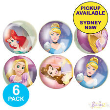 DISNEY PRINCESS PARTY SUPPLIES 6 BOUNCEY BOUNCE BALLS BIRTHDAY LOOT FAVOURS