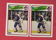 1988-89 TOPPS / OPC # 65 JETS DALE HAWERCHUK CARD