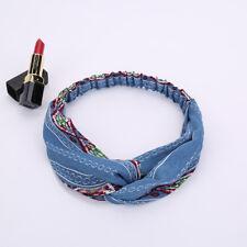 Flower* Boho Bohemian Cross Hair Head Headband Band Scarf Wrap Bandana