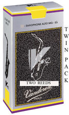 More details for twin pack vandoren v12 alto saxophone reeds strengths 2.5 3 or 3.5 free delivery