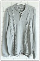 Ted Baker Men's Torres Cable Knit Top Grey Marl Size 5