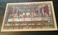 Vintage CALIFORNIA postcard The Last Supper Forest Lawn Park Glendale CA 1930s