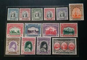 BAHAWALPUR 1948 3p to 10R SG 19 - 32 Sc 2 - 15 pictorial set 14 MLH