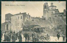 Terni Amelia Porta Romana Auto Postale SCOLLATA RIFILATA cartolina QT4914