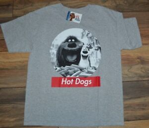 HOT DOGS! The Secret Life of Pets Youth Tee Officially Licensed T-Shirt