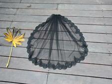 Black 1T/2T Lace Edge Wedding Veil Bridal Accessories with Cromb