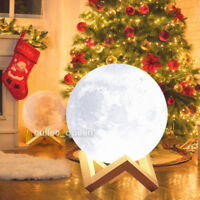 18cm 20cm 3D USB LED Moon Night Light Moonlight Table Desk Moon Lamp Home Decor