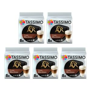 Tassimo L'OR Latte Macchiato Pack of 5 (Total of 40 Coffee Pods)