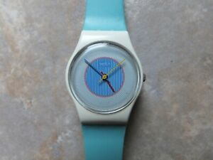 """Swatch Watch. 1985. """"Ice Mint""""  LW105. New Battery Fitted. Superb example"""