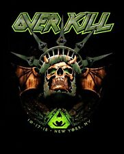 OVERKILL cd lgo Statue of Liberty Skull NEW YORK Official TOUR SHIRT SMALL OOP