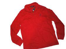 Polo RALPH LAUREN men's Sweater 1/4 ZIP red PULL OVER Medium M