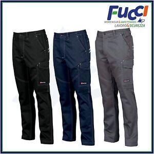 Pantaloni da Lavoro Multistagione Payper Worker Multitasche Uomo 100% Cotone