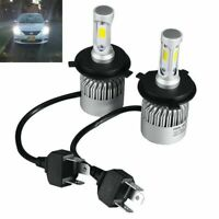 2X H4 200W 20000LM COB LED Scheinwerfer Licht Lampe Nachrüstsatz Kits 6500K Weiß