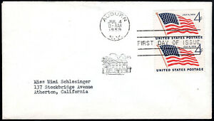 US FDC, SC#1132, U.S. Flag, No Cachet, with insert, 1959