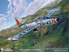 ART PRINT: F-84G Thunderjet Over Korea - Print by Shepherd