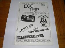 More details for ego trip no 1 - fanzine 1982 jimmy page rose tattoo angel witch samson sledgeham