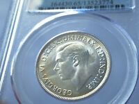 Florin 1944 S PCGS graded MS 65. GEM. Light tone