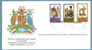 1977 GRENADA SILVER JUBILEE ROYAL COMMONWEALTH SOCIETY FDC