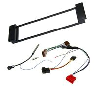 KFZ Auto DIN Radio Blende Einbau Rahmen Antennen Adapter Kabel Set für Audi Seat