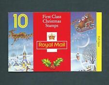 Lx4 Christmas 1993 Santa & Reindeer 10 x 1st / 25p Booklet