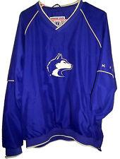 Washington Huskey Pull-Over Purple Size M Cotton Blend Football