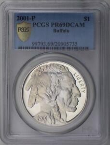 2001-P $1 American Buffalo Proof Commemorative Silver Dollar PCGS PR69DC