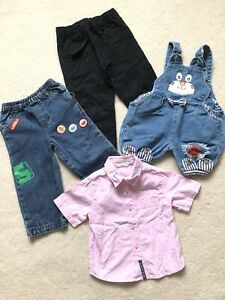 Boy's In Size 2 , Incl,. Button Up T-shirt, Overall & Jeans , Great Used