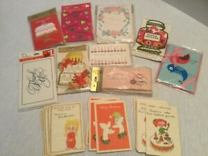 Four Vintage Thinking Of You Greeting Cards By Flavia 4