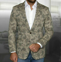 Mens INSOMNIA MANZINI Entertainer Event Sport Jacket Linen Blazer Paisley Tan