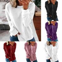 Women Casual Long Sleeve T Shirt Sweatshirt Blouse Loose Pullover Tunic Tops Tee