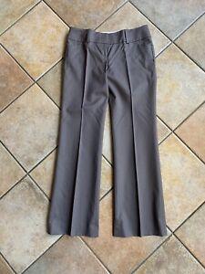 NWT Ann Taylor Petite Gray Modern Fit Trouser Leg Pants Sz 2 Petite