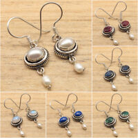 925 Silver Plated PEARL & Other Gem Variation Earrings BUY ANY OF YOUR CHOICE