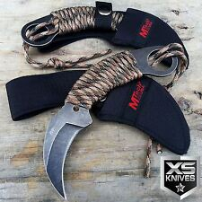 "7"" TACTICAL COMBAT Karambit Claw FIXED BLADE KNIFE Army Hawkbill w/ SHEATH"