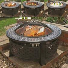 Large FirePit BBQ Grill Brazier Outdoor Garden Round Firepit Stove Heater