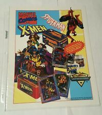spiderman and x-men 1996 metallic impressions promo sheet