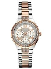 New Guess Ladies U0111L4 Shimmers Round Dial Crystals Stainless Band Watch