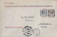 CYPRUS GEORGE V EXPERIMENTAL FLIGHT LIMASSOL - STOCKHOLM, SWEDEN 30 AUGUST 1929