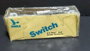 Vintage Switch E-Z Wire Eagle Brown Light Switch 1301B-Box 15A120v AC QUIET NEW