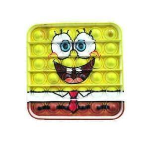 Spongebob Push it Bubble Pop Fidget Sensory Toy Autism ADHD Stress Reliever Toys