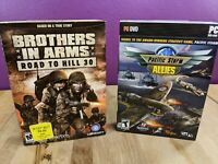 (2) NEW PC Games Lot Bundle Pacific Storm Allies & Brothers in Arms Road To Kill