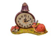 Reloj clasico sobremesa caracol rojo